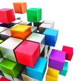 Bedrijfsgroepswerk, Internet en communicatie concept Stock Afbeeldingen