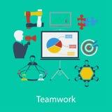 Bedrijfsgroepswerk vlak ontwerp Royalty-vrije Stock Afbeelding