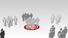 Bedrijfsgroepswerkconcept royalty-vrije illustratie