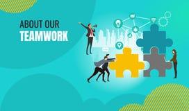 Bedrijfsgroepswerkprojectleiding, bedrijfswerkschema, customer relationship management royalty-vrije illustratie