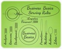 Bedrijfsgrondbeginselen die regels dienen Stock Illustratie
