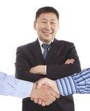 Bedrijfshanddruk stock foto