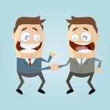 Bedrijfshanddruk royalty-vrije illustratie
