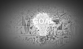 Bedrijfsideeën en doelstellingen Stock Afbeelding