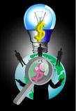 Bedrijfsidee en lamp Royalty-vrije Stock Foto