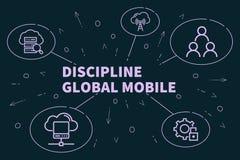 Bedrijfsillustratie die het concept discipline globaal m tonen royalty-vrije illustratie