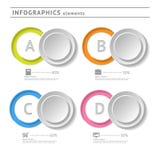 Bedrijfsinfographicselementen. De temperaturen van het cirkelontwerp Stock Foto