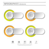 Bedrijfsinfographicselementen. Modern ontwerpmalplaatje. Abstract Web of grafische lay-out Stock Fotografie