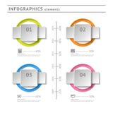 Bedrijfsinfographicselementen. Moderne ontwerptemperaturen Stock Afbeeldingen
