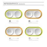 Bedrijfsinfographicselementen. Moderne ontwerptemperaturen Stock Foto