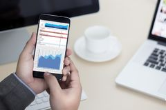 BedrijfsInformatietechnologie de mensen werken harde Gegevens Analytics Stock Afbeelding