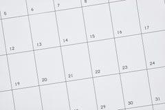 Bedrijfskalender Royalty-vrije Stock Foto