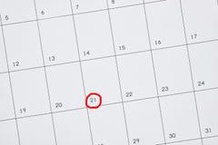 Bedrijfskalender Royalty-vrije Stock Foto's