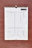 Bedrijfskalender Stock Foto's