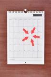 Bedrijfskalender Royalty-vrije Stock Fotografie