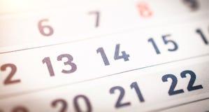 Bedrijfskalenderclose-up stock afbeelding