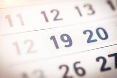 Bedrijfskalenderclose-up royalty-vrije stock foto