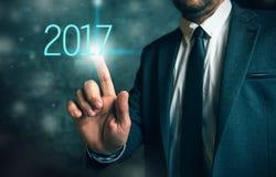 Bedrijfskans in 2017 Stock Foto's