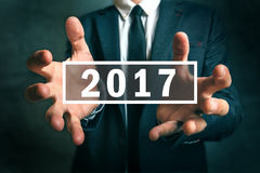 Bedrijfskansen in het Nieuwe jaar van 2017 Stock Foto's