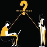 Bedrijfskansvraag onder mensen royalty-vrije illustratie