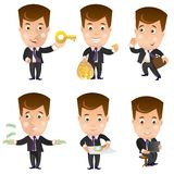 Bedrijfskarakter - reeks Stock Afbeeldingen