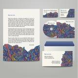 Bedrijfskunstwerken met gekleurd bloemenpatroon Stock Foto's
