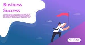 Bedrijfslandingspaginamalplaatje vector illustratie