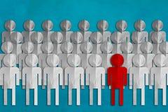 Bedrijfsleidersconcept met rood en Witboekbesnoeiing Royalty-vrije Stock Afbeeldingen