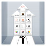 Bedrijfsmalplaatje met pijlen Royalty-vrije Stock Afbeelding