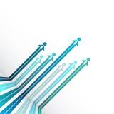 Bedrijfsmalplaatjeachtergrond met mensen en pijlen, vector illustr Royalty-vrije Stock Afbeelding