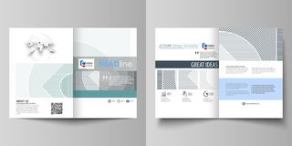 Bedrijfsmalplaatjes voor bi-vouwenbrochure, tijdschrift, vlieger, boekje Het malplaatje van het dekkingsontwerp, abstracte vector vector illustratie