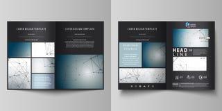 Bedrijfsmalplaatjes voor bi-vouwenbrochure, tijdschrift, vlieger, boekje Het malplaatje van het dekkingsontwerp, vectorlay-out in vector illustratie