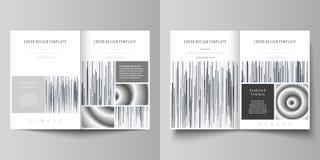 Bedrijfsmalplaatjes voor bi-vouwenbrochure, tijdschrift, vlieger Het malplaatje van het dekkingsontwerp, abstracte vectorlay-out  vector illustratie