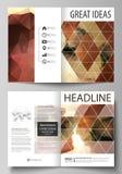 Bedrijfsmalplaatjes voor bi-vouwenbrochure, vlieger, boekje Het malplaatje van het dekkingsontwerp, abstracte vectorlay-out in A4 vector illustratie