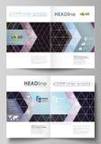 Bedrijfsmalplaatjes voor bi-vouwenbrochure, vlieger, boekje, rapport Dekkingsmalplaatje, vectorlay-out in A4 grootte Samenvatting stock illustratie