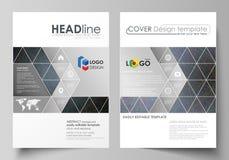 Bedrijfsmalplaatjes voor brochure, tijdschrift, vlieger, boekje Het malplaatje van het dekkingsontwerp, vectorlay-out in A4 groot vector illustratie