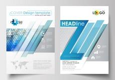 Bedrijfsmalplaatjes voor brochure, tijdschrift, vlieger, boekje Het malplaatje van het dekkingsontwerp, gemakkelijke editable leg royalty-vrije illustratie