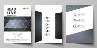 Bedrijfsmalplaatjes voor brochure, tijdschrift, vlieger, boekje Het malplaatje van het dekkingsontwerp, vectorlay-out in A4 groot royalty-vrije illustratie