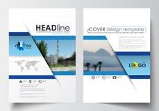 Bedrijfsmalplaatjes voor brochure, tijdschrift, vlieger, boekje of jaarverslag stock illustratie