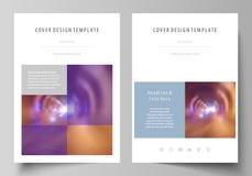 Bedrijfsmalplaatjes voor brochure, tijdschrift, vlieger, boekje of jaarverslag Dekkingsmalplaatje, gemakkelijke editable vector stock illustratie