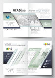 Bedrijfsmalplaatjes voor brochure, tijdschrift, vlieger, boekje of rapport Dekkingsontwerp, gemakkelijk editable malplaatje, vlak stock illustratie