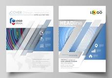 Bedrijfsmalplaatjes voor brochure, tijdschrift, vlieger, boekje of rapport Het malplaatje van het dekkingsontwerp, abstracte vect stock illustratie
