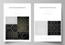 Bedrijfsmalplaatjes voor brochure, tijdschrift, vlieger, boekje, rapport Het malplaatje van het dekkingsontwerp, vectorlay-out in royalty-vrije illustratie