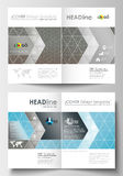 Bedrijfsmalplaatjes voor brochure, tijdschrift, vlieger Dekkingsmalplaatje, vlakke lay-out in A4 grootte Wetenschappelijk medisch Stock Foto's