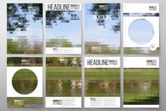 Bedrijfsmalplaatjes voor brochure, vlieger of boekje royalty-vrije illustratie