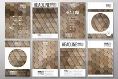 Bedrijfsmalplaatjes voor brochure, vlieger of boekje stock illustratie