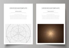 Bedrijfsmalplaatjes voor brochure, vlieger, boekje Het malplaatje van het dekkingsontwerp, abstracte vectorlay-out in A4 grootte  Stock Foto