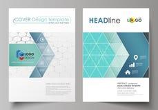 Bedrijfsmalplaatjes voor brochure, vlieger, boekje, rapport Het malplaatje van het dekkingsontwerp, abstracte vectorlay-out in A4 stock illustratie