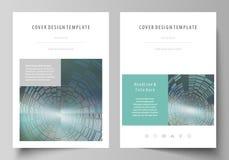 Bedrijfsmalplaatjes voor brochure, vlieger, boekje of rapport Het malplaatje van het dekkingsontwerp, gemakkelijke editable vecto royalty-vrije illustratie