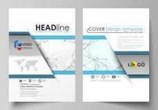 Bedrijfsmalplaatjes voor brochure, vlieger, boekje, rapport Het malplaatje van het dekkingsontwerp, vectorlay-out in A4 grootte c stock illustratie